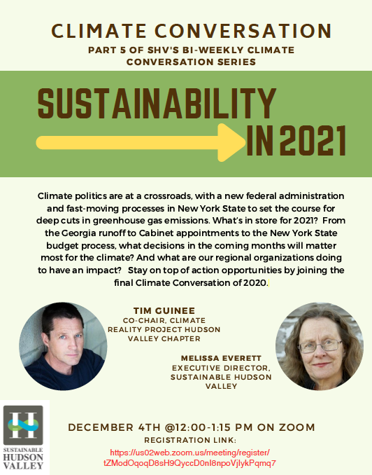 Climate Conversation- Sustainability in 2012